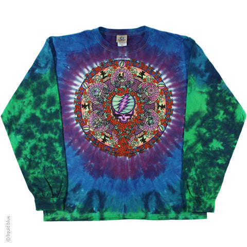 Grateful Dead Celtic Mandala Long Sleeve Tie Dye T-Shirt