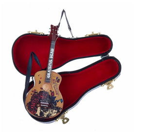 Grateful Dead™ Guitar With Black Case Ornament