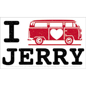 Grateful Dead I Love Jerry Van Bumper Sticker