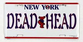 Grateful Dead NY License Plate