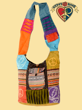 Grateful Dead Peace Patchwork Bag