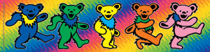 Grateful Dead Rainbow Row of Dancing Bears Sticker