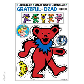 Grateful Dead Red Dancing Bear Die Cut Multi Pack Sticker Set