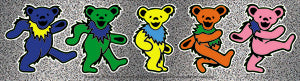Grateful Dead Row of Dancing Bears Glitter Sticker