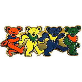 Grateful Dead Row of Dancing Bears Metal Sticker