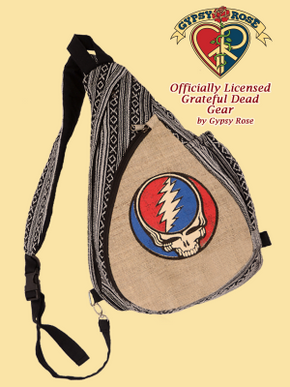 Grateful Dead SYF Hemp and Cotton Teardrop Sling Bag
