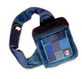Grateful Dead SYF Patchwork Corduroy Courier Bag
