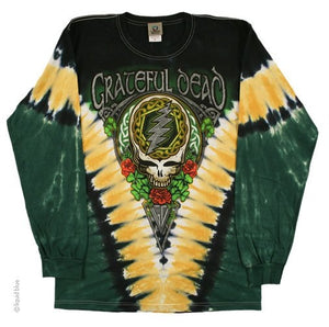 Grateful Dead Shamrock Long Sleeve Tie Dye T-Shirt
