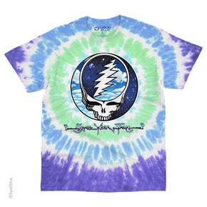 Grateful Dead Sky Space Steal Your Face Tie Dye T-Shirt