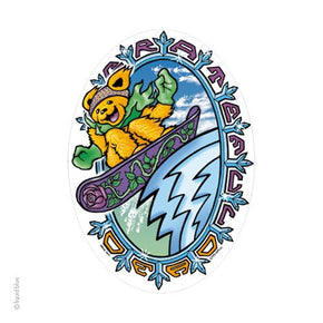 Grateful Dead Snowboard Bear Sticker