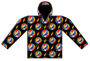 Grateful Dead Steal Your Face Jumbled Fleece Pullover