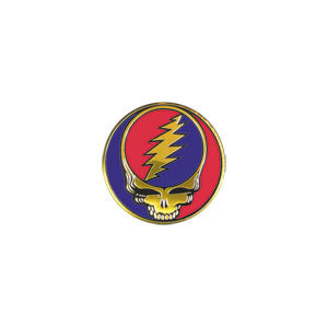 Grateful Dead Steal Your Face Metal Sticker 1.125""