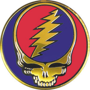 Grateful Dead Steal Your Face Metal Sticker 3.125""
