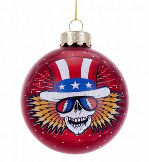 Grateful Dead™ Uncle Sam Glass Ball Ornament