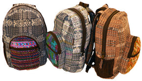 Hand Woven Backpack with Hand Brocaded Accents