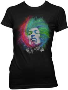 Jimi Hendrix Galaxy Ladies T-Shirt