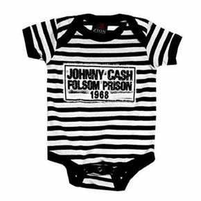Johnny Cash Kids Folsom Stripes Creeper