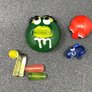 Kid Dino Glass Candy Slurper Set