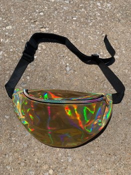 Laser Gold Holographic Fanny Pack