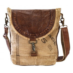 Leather Flap With Lock Bag By Clea Ray