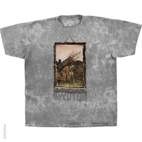 Led Zeppelin Man with Sticks Tie Dye T-Shirt