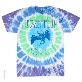Led Zeppelin Ramble On Spiral Tie Dye T-Shirt