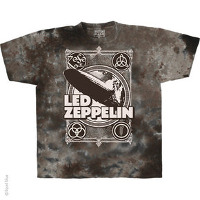 Led Zeppelin Poster Tie Dye T-Shirt