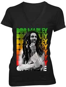 Bob Marley Block Rasta Ladies T-Shirt