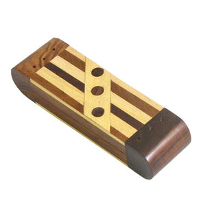 Mini Incense Wood Inlay Coffin Incense Burner