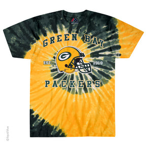 Green Bay Packers Spiral Tie Dye T-Shirt
