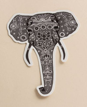 Painted Elephant Sticker