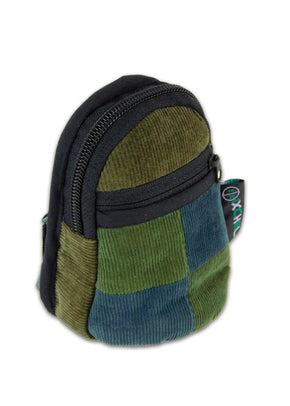 Patchwork Corduroy Micro Backpack