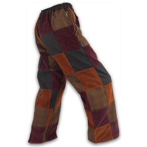 Patchwork Pants - Brown
