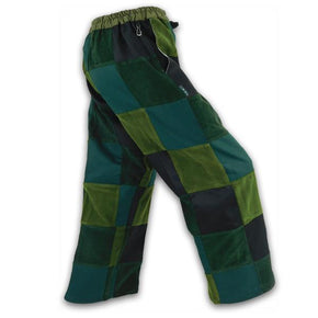 Patchwork Pants - Green