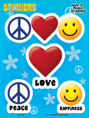 Peace Love Happiness Sticker Set