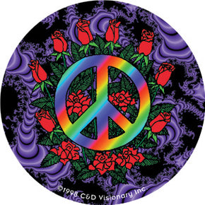 Peace & Roses Sticker