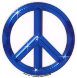 Peace Sign (Blue) Sticker