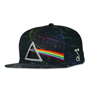 Pink Floyd Dark Side of the Moon Black Snapback Hat by Grassroots California