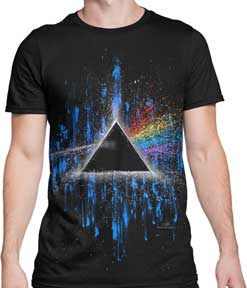 Pink Floyd Dark Side of the Moon Splatter Art T-Shirt