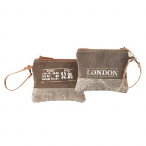 Postal London Zip Up Pouch By Clea Ray