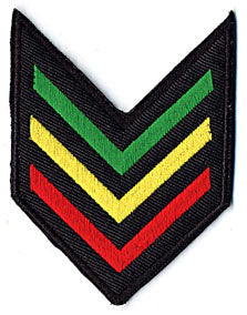 Rasta Army Stripe Patch