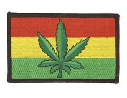 Rasta Leaf Flag Patch