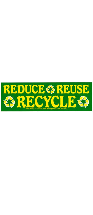 Reduce Reuse Recycle Bumper Sticker