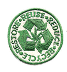 Reduce Reuse Restore Recycle Hemp Patch