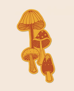 Retro Mushrooms Sticker by Soul Flower