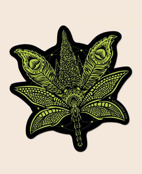 Sacred Cannabis Sticker by Soul Flower