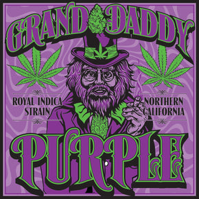 Seven Leaf Granddaddy Purple Strain Sticker