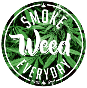 Seven Leaf Smoke Weed Everyday Sticker
