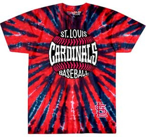 St. Louis Cardinals Baseball Burst Tie Dye T-Shirt