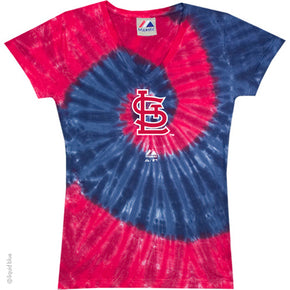 St. Louis Cardinals Spiral Tie Dye Ladies T-Shirt
